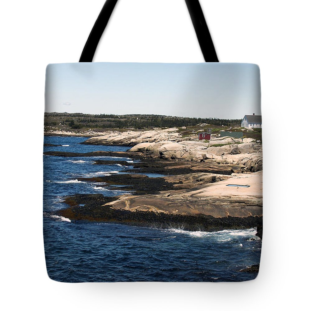 Fishing Tote Bag featuring the photograph Rocky Shores by Kelvin Booker