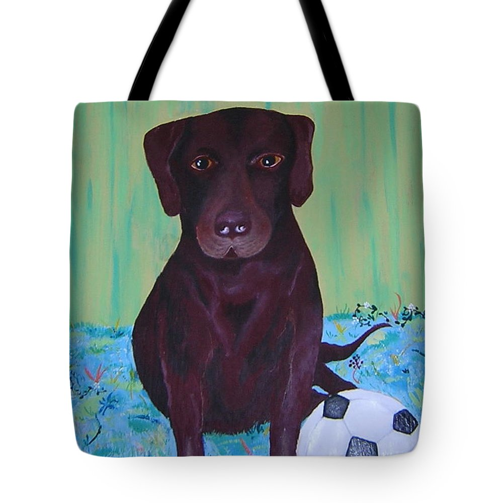 Dog Tote Bag featuring the painting Rocky by Valerie Josi