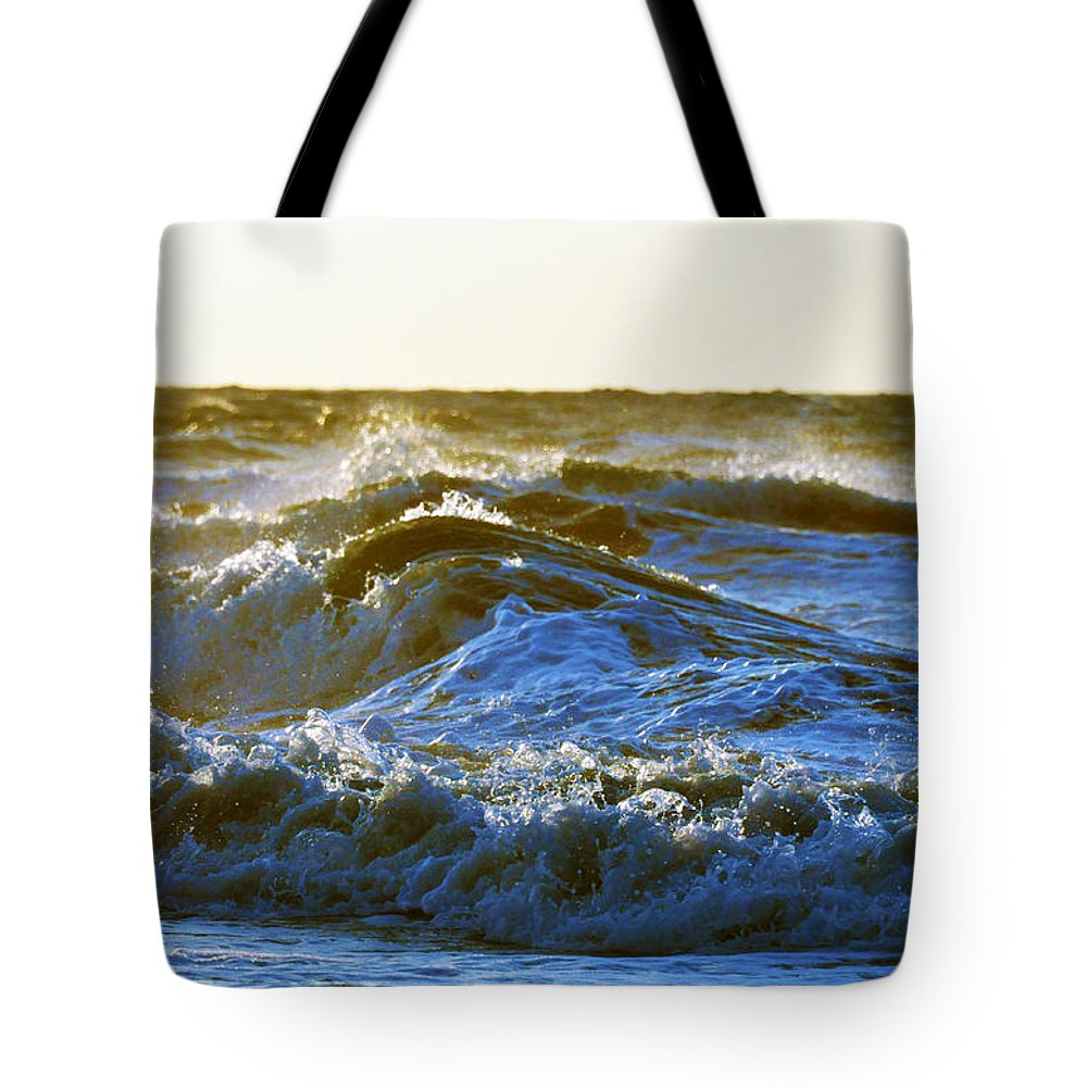 Beach Tote Bag featuring the photograph Rolling Waters by Kay Lovingood