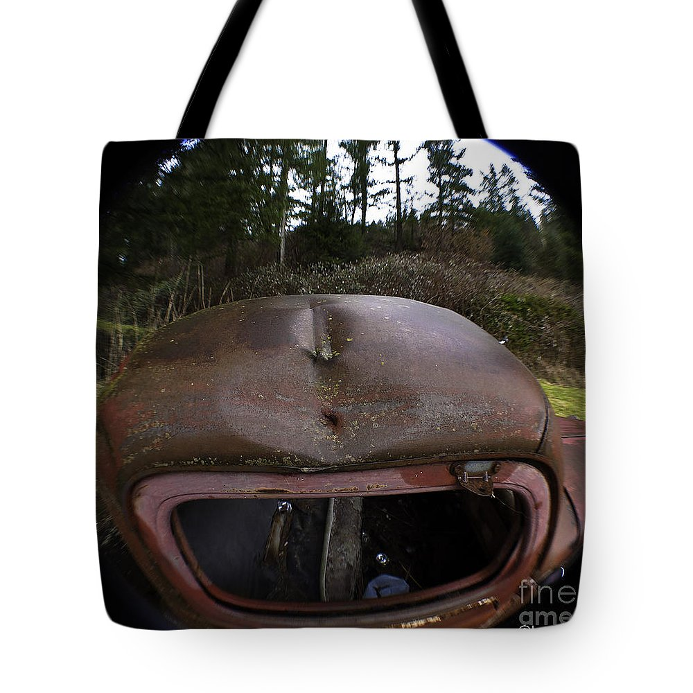 Art Tote Bag featuring the photograph Roll Over Old Truck by Clayton Bruster