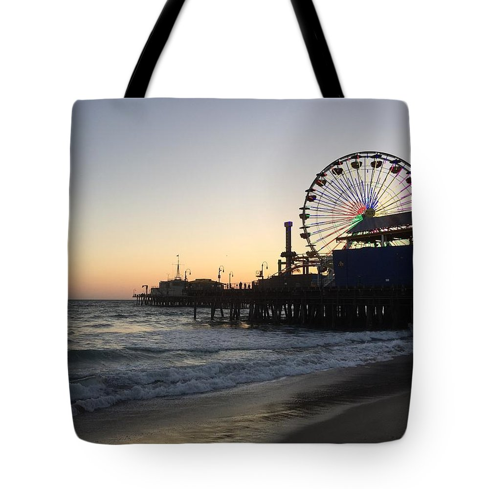 Bridge Tote Bag featuring the photograph Roller Coaster Beach by Peggy Chambers