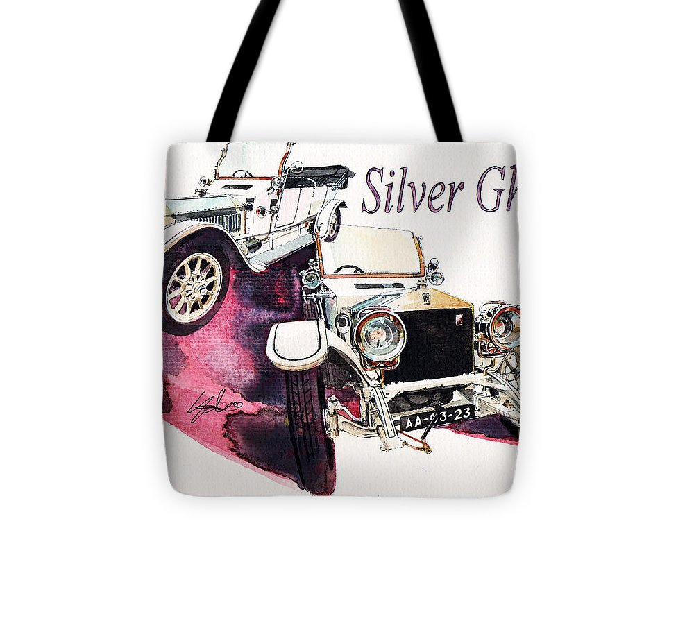 Rolls Royce Silver Ghost (1911) Tote Bag featuring the painting Rolls Royce Silver ghost             by Yoshiharu Miyakawa