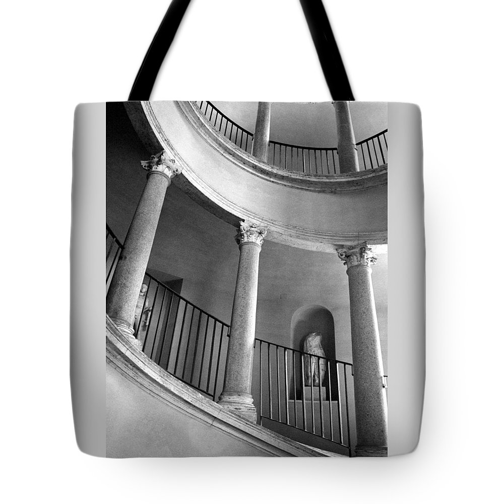 Italy Tote Bag featuring the photograph Roman Staircase by Donna Corless