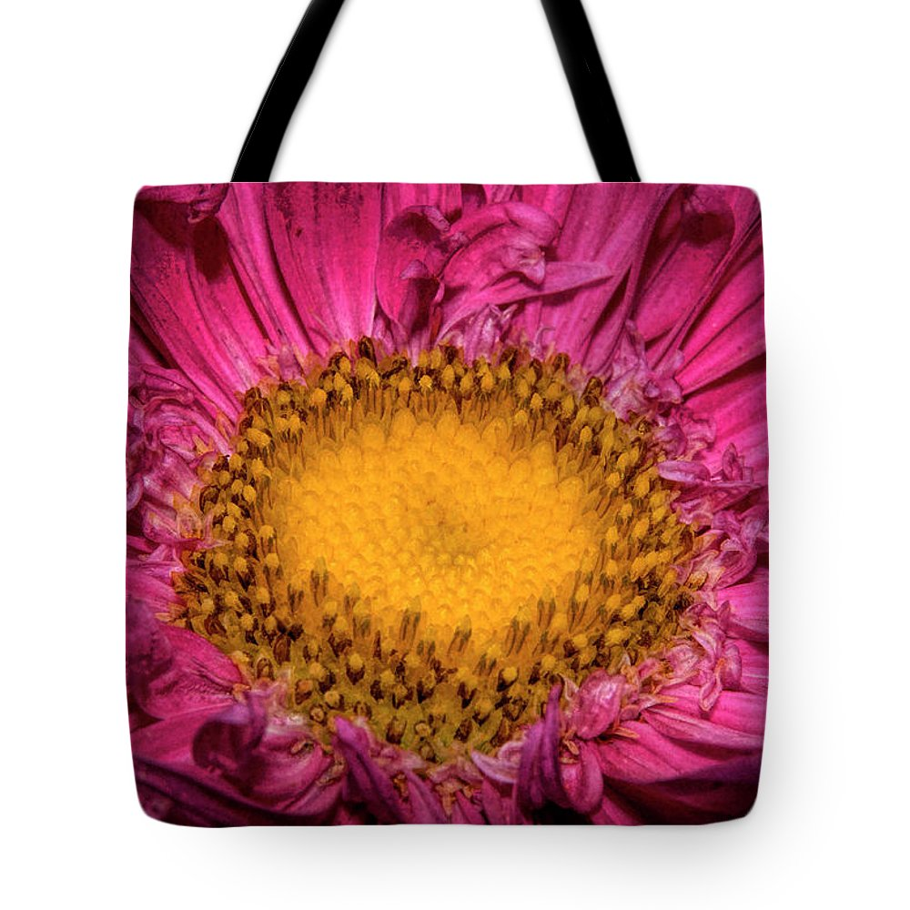 Shocking Pink Yellow Dahlia Tote Bag featuring the digital art Romance Of Yellow And Shocking Pink by Syed Muhammad Munir ul Haq