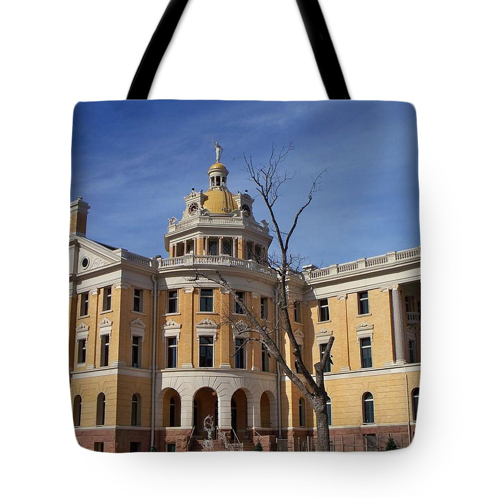 Architecture Tote Bag featuring the photograph Romanesque by Betty Northcutt