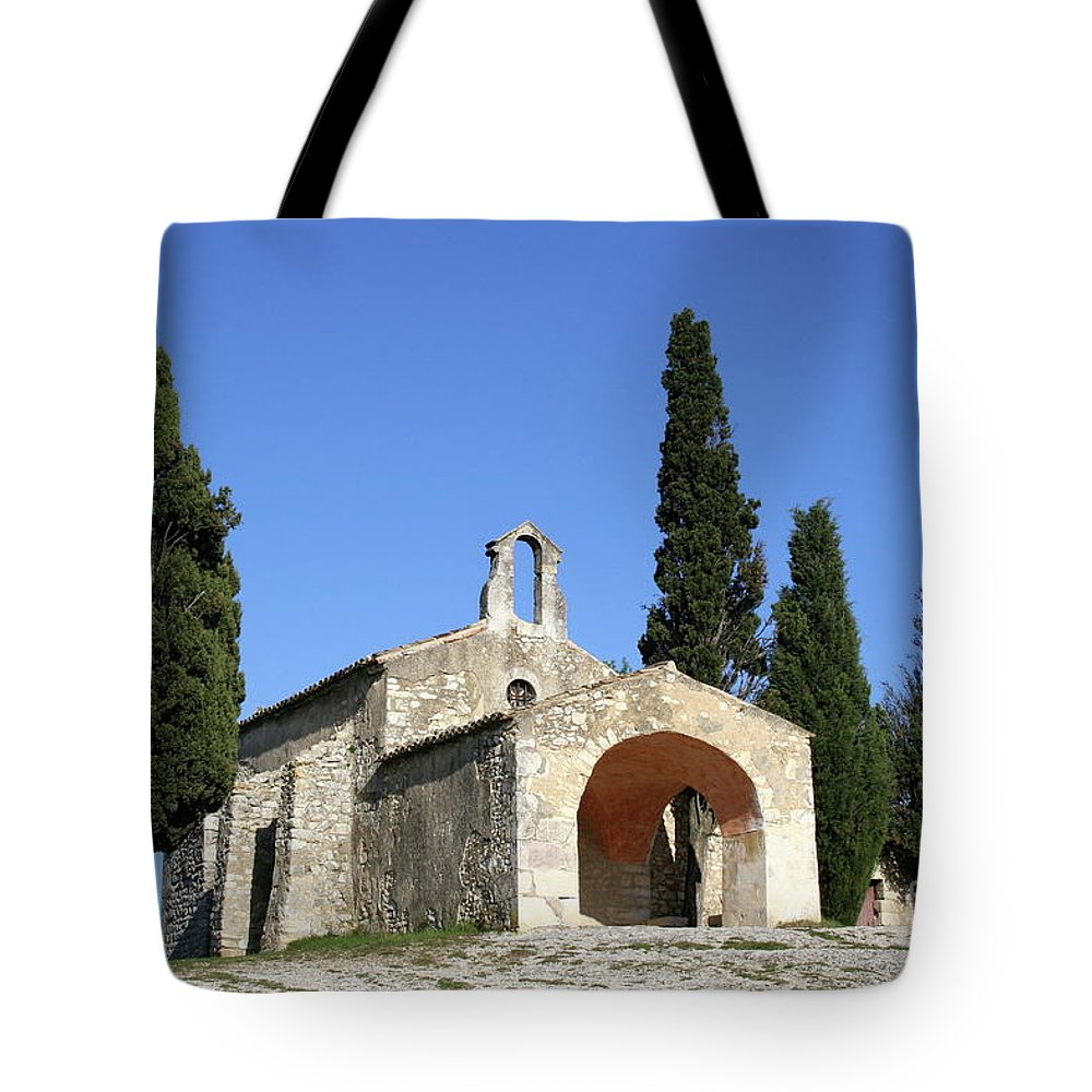 Chapel Tote Bag featuring the photograph Romanesque Chapel Saint Sixte by Christiane Schulze Art And Photography