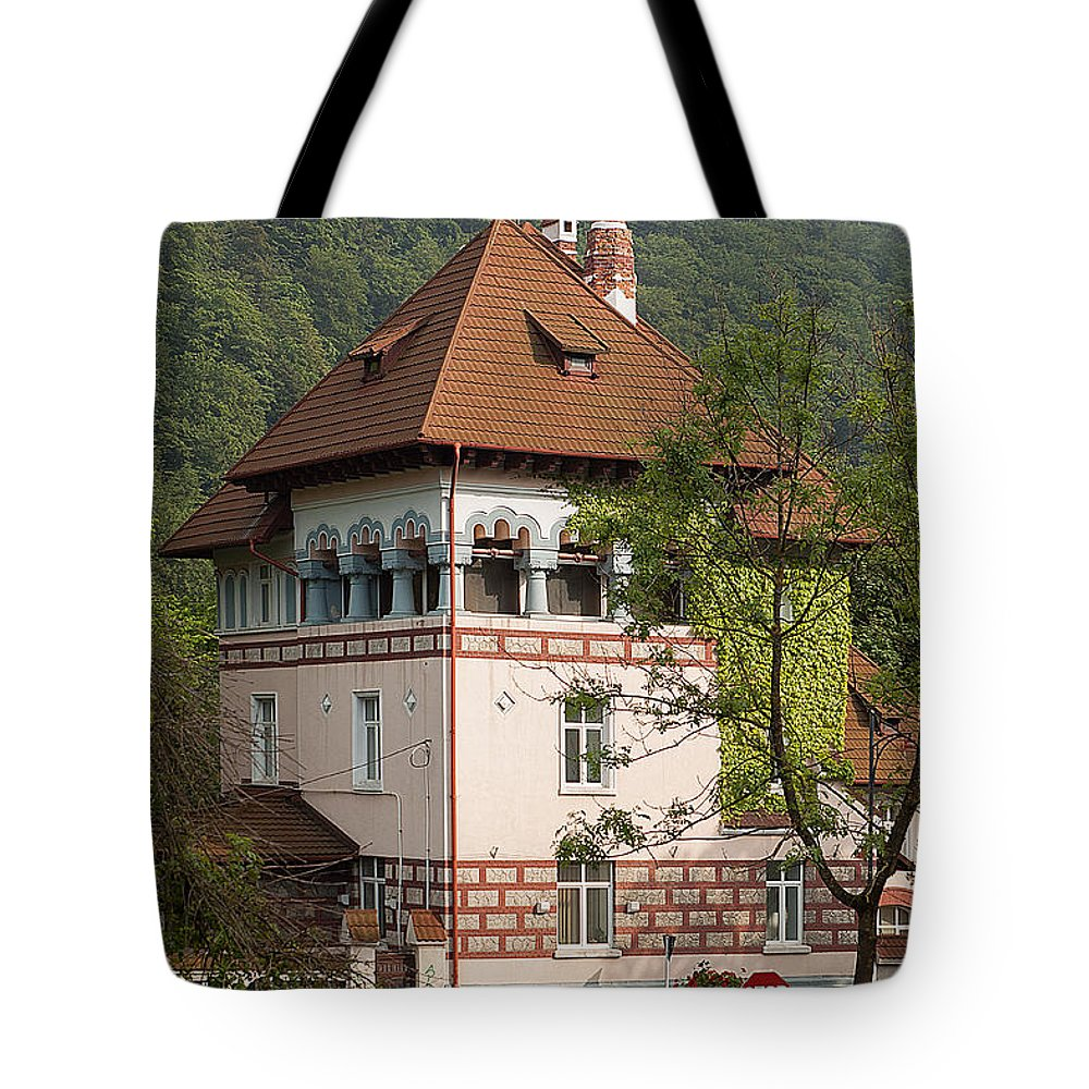 Romania Tote Bag featuring the photograph Romanian Villa by Christian Hallweger