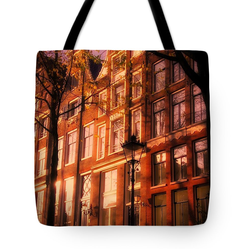Architecture Amsterdam Tote Bag featuring the photograph Romantic Amsterdam by Nick Wardekker