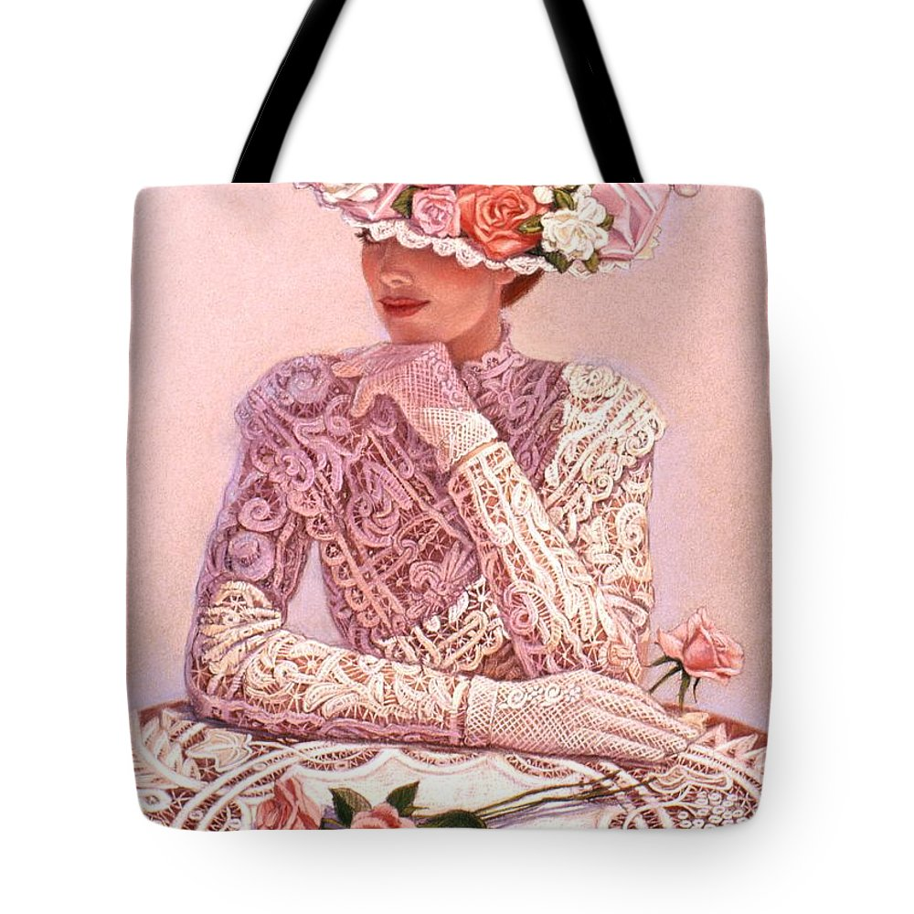 Woman Tote Bag featuring the painting Romantic Lady by Sue Halstenberg
