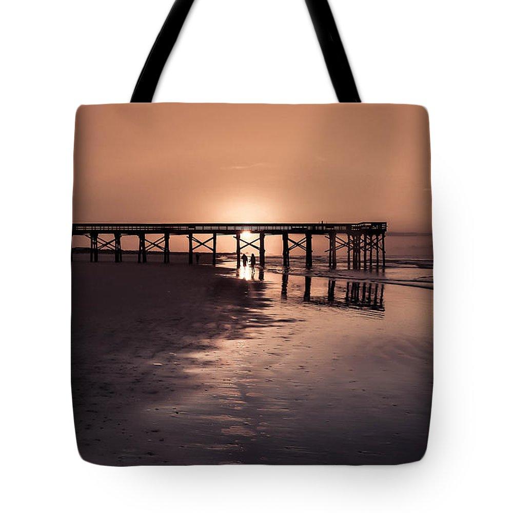 Romantic Sunrises Tote Bag featuring the photograph Romantic Moments by Debra Bowers