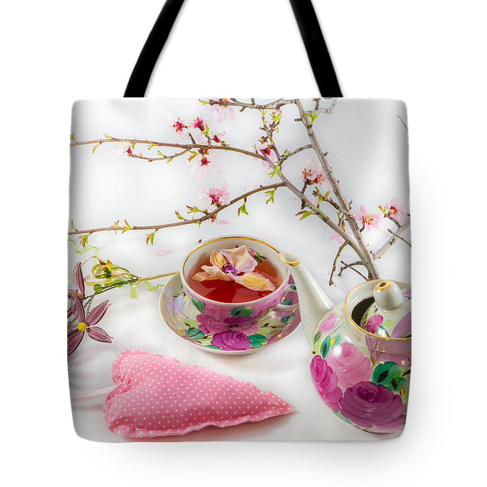 Flower Tote Bag featuring the photograph Romantic Pinks And Violets 1 by Iordanis Pallikaras