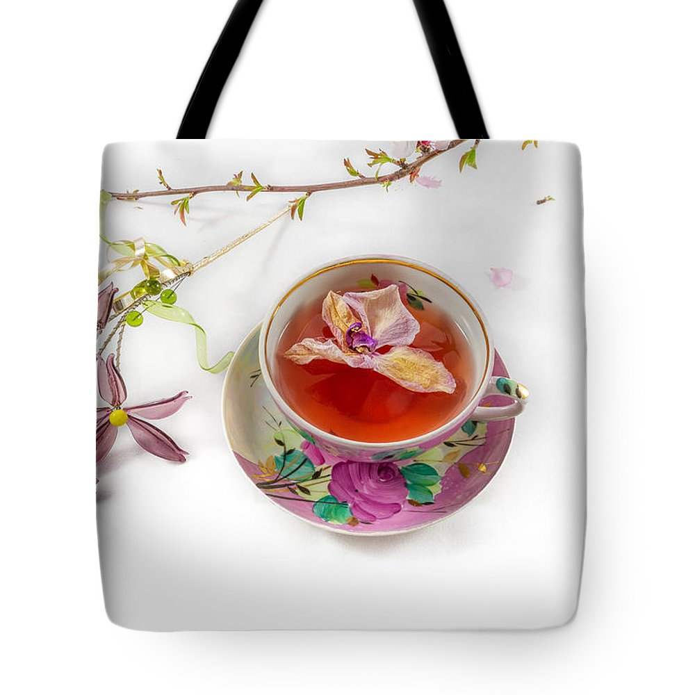 Flower Tote Bag featuring the photograph Romantic Pinks And Violets 2 by Iordanis Pallikaras