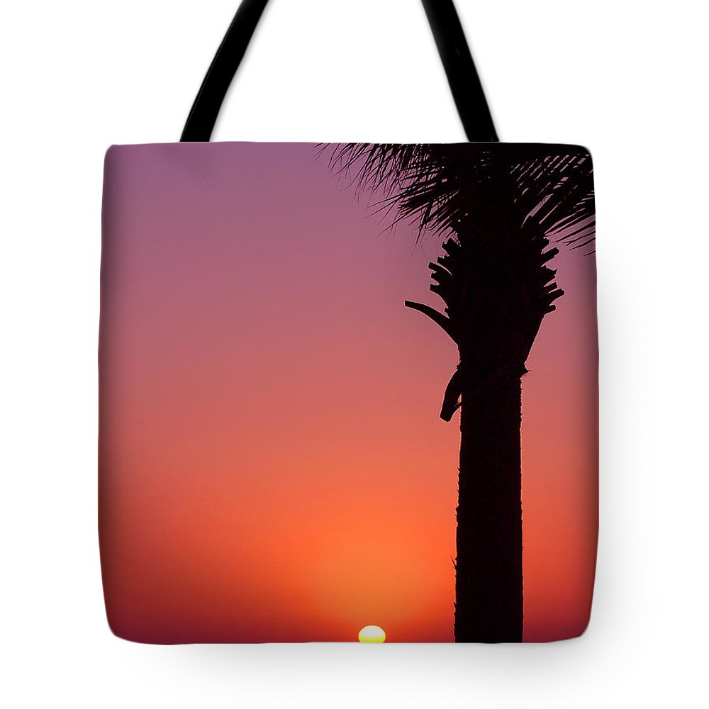 Sunsets Tote Bag featuring the photograph Romantic Sunset by Susanne Van Hulst
