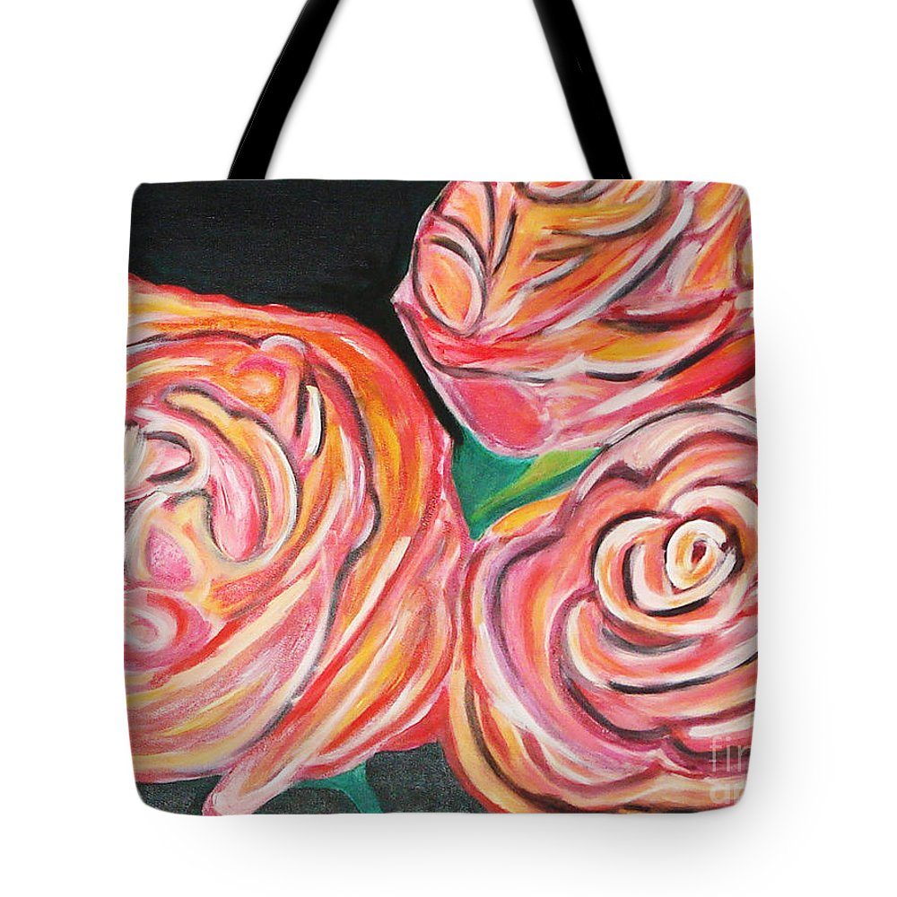 Acrylic Painting Tote Bag featuring the painting Romantic by Yael VanGruber