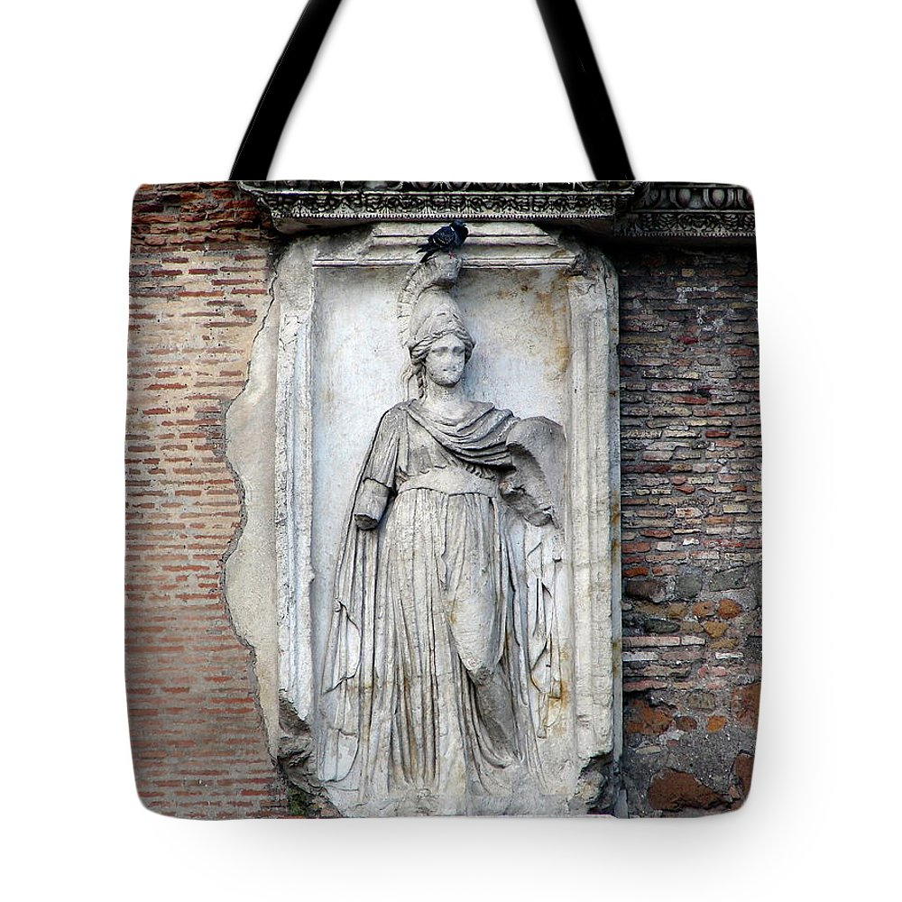 Rome Tote Bag featuring the photograph Rome Italy Statue by Brett Winn