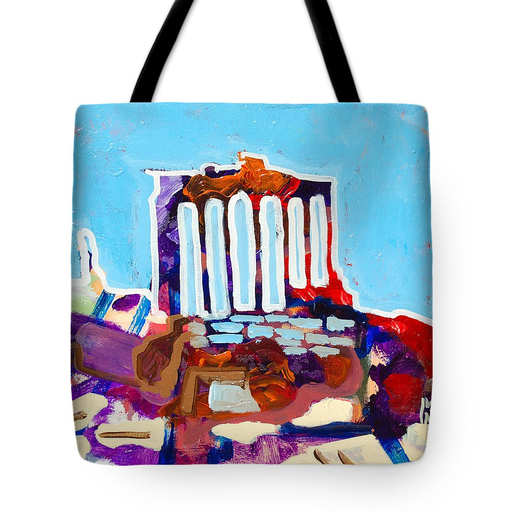 Rome Tote Bag featuring the painting Rome by Kurt Hausmann