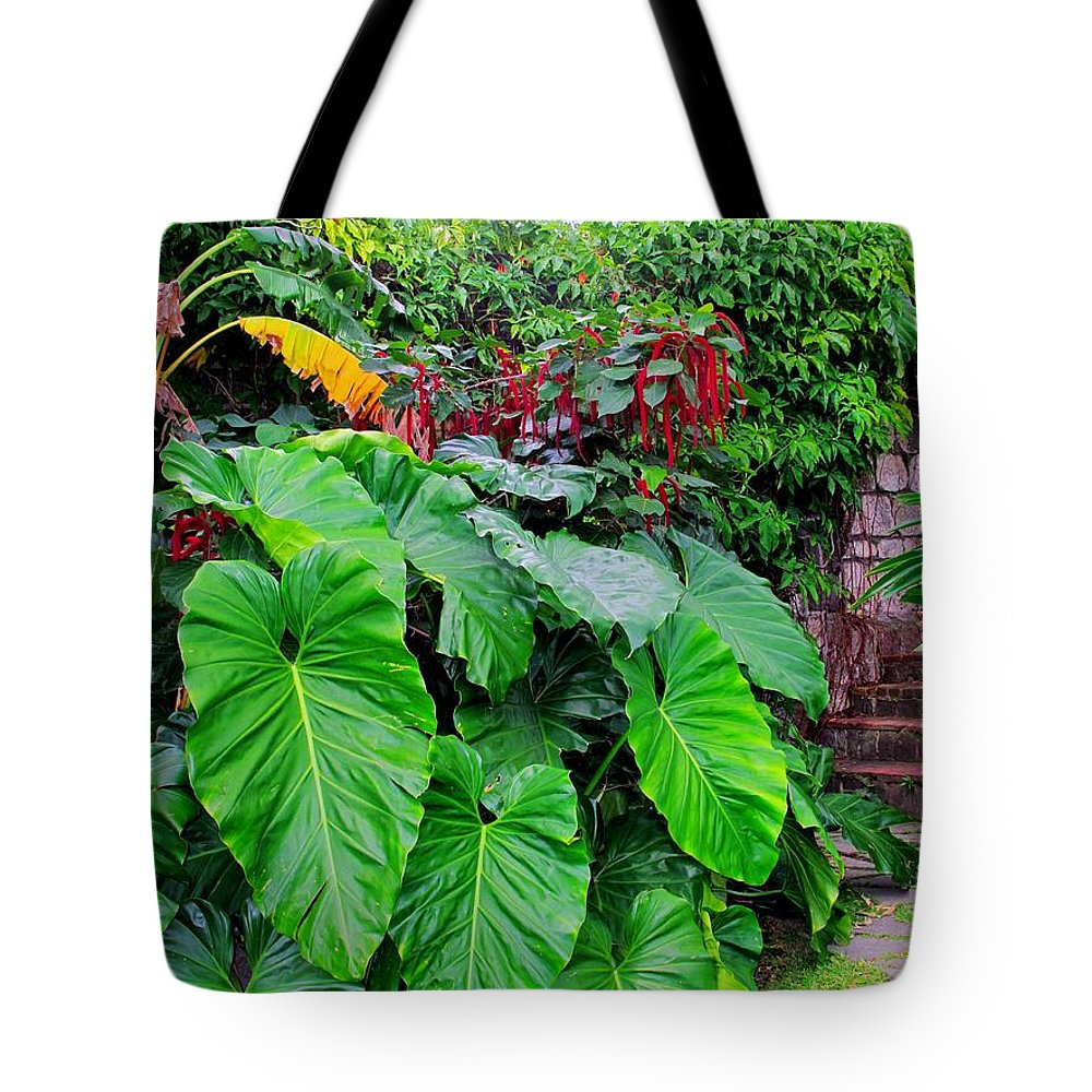 Lush Tote Bag featuring the photograph Romney Steps by Ian MacDonald