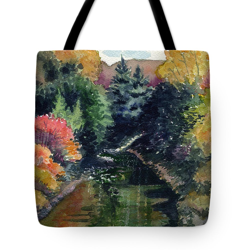 Ronceverte West Virginia Tote Bag featuring the painting Ronceverte, Wv by Katherine Miller