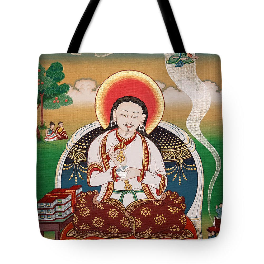 Rongzom Tote Bag featuring the painting Rongzom Chokyi Zangpo by Sergey Noskov