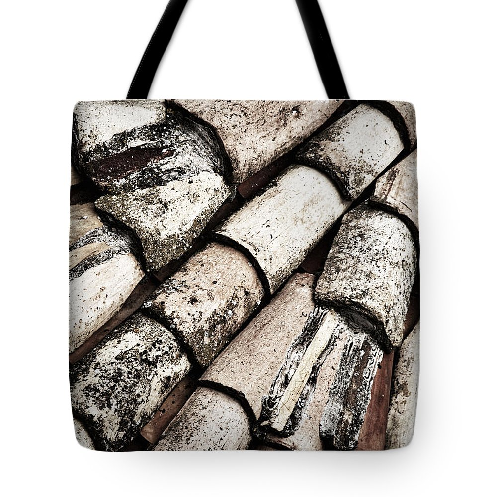 Dubrovnik Tote Bag featuring the photograph Roof Tile Abstract by Stuart Litoff