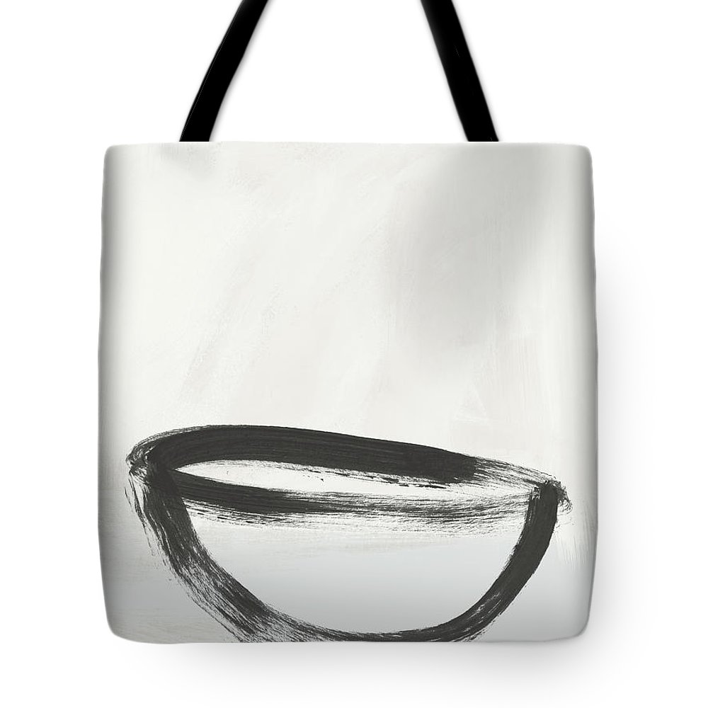 Abstract Tote Bag featuring the painting Room To Receive 1- Zen Abstract Art By Linda Woods by Linda Woods