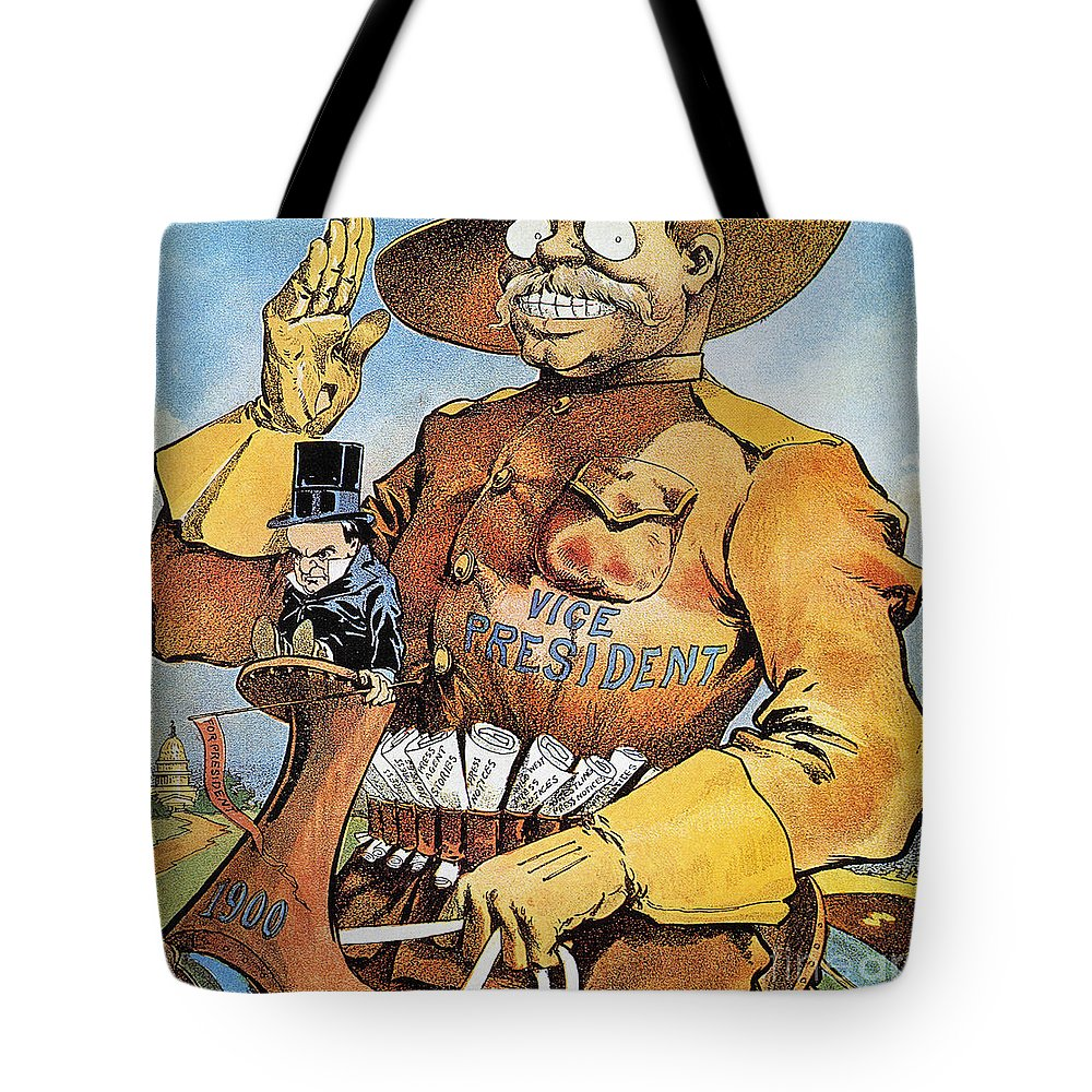 1900 Tote Bag featuring the photograph Roosevelt/mckinley Cartoon by Granger