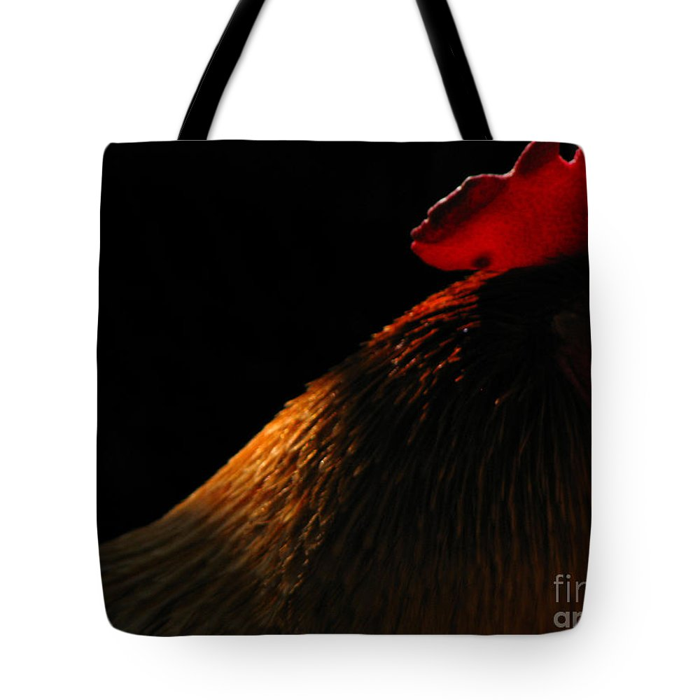 Rooster Tote Bag featuring the photograph Rooster by Amanda Barcon