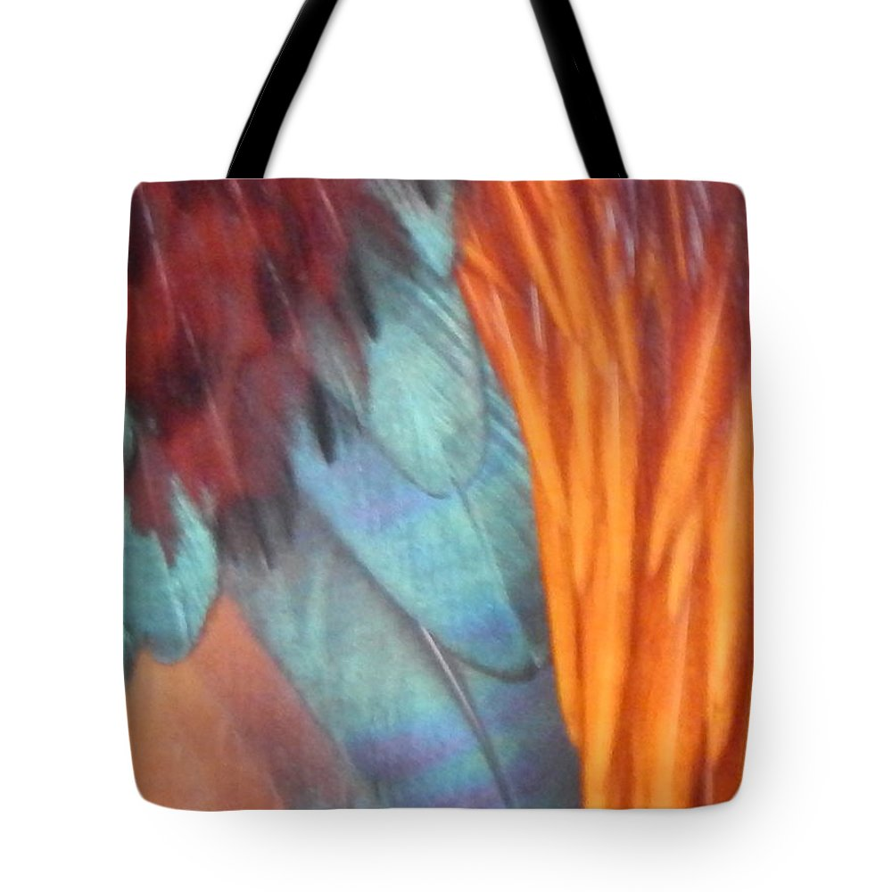 Rooster Tote Bag featuring the photograph Rooster Art Palette by Jan Gelders