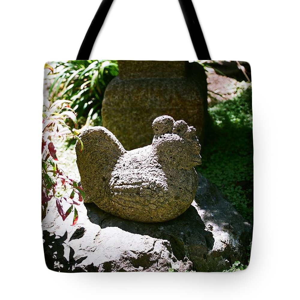 Stone Tote Bag featuring the photograph Rooster by Dean Triolo