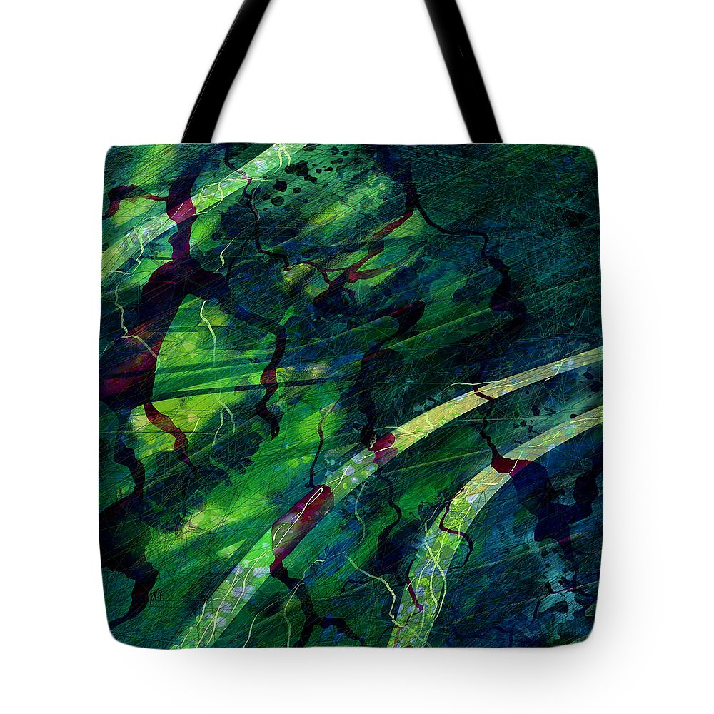 Abstract Tote Bag featuring the digital art Root Canal by William Russell Nowicki