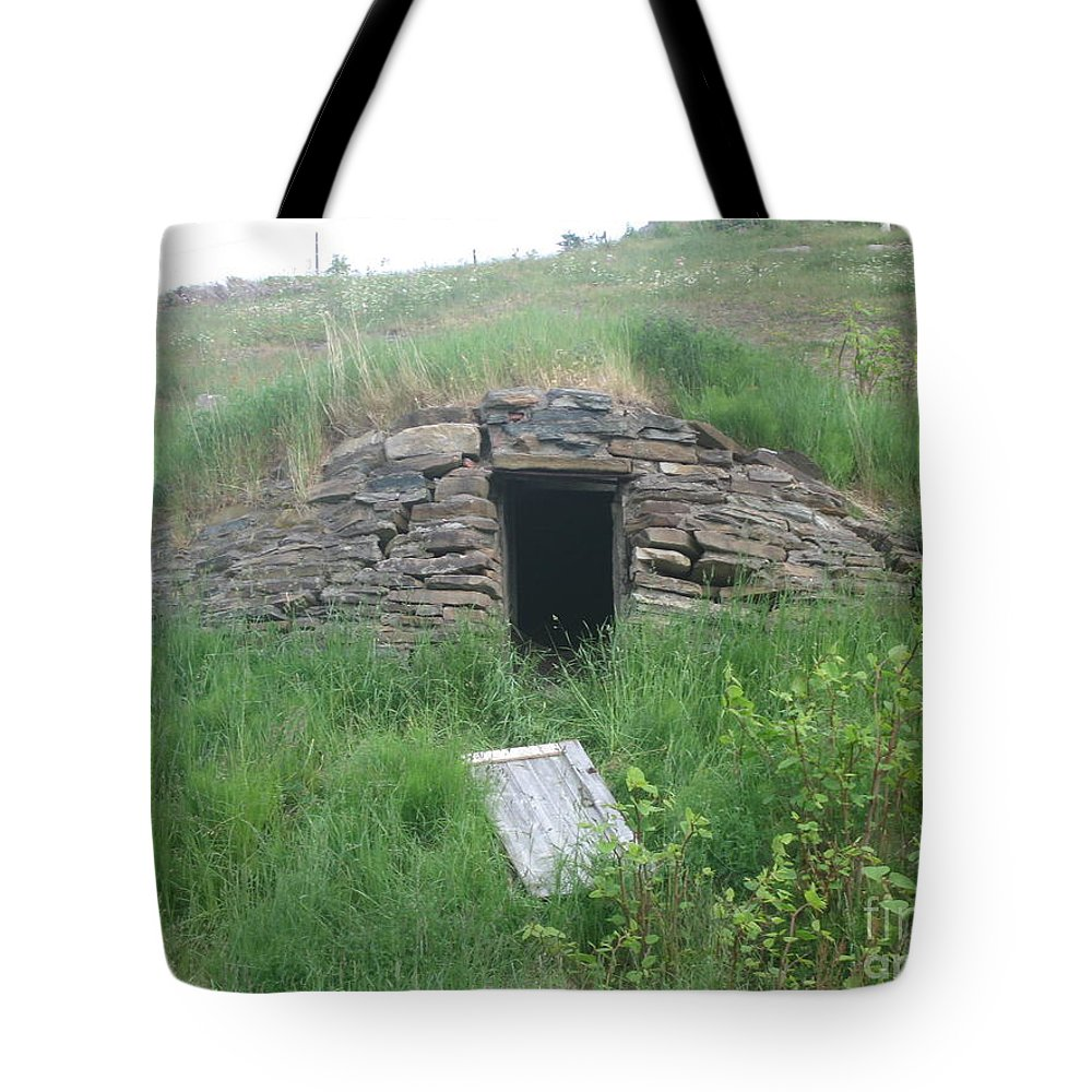 Photograph Cellar Old Green Newfoundland Tote Bag featuring the photograph Root Cellar by Seon-Jeong Kim