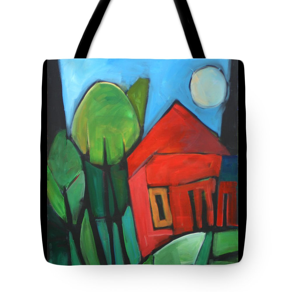 Trees Tote Bag featuring the painting Root Cellar by Tim Nyberg