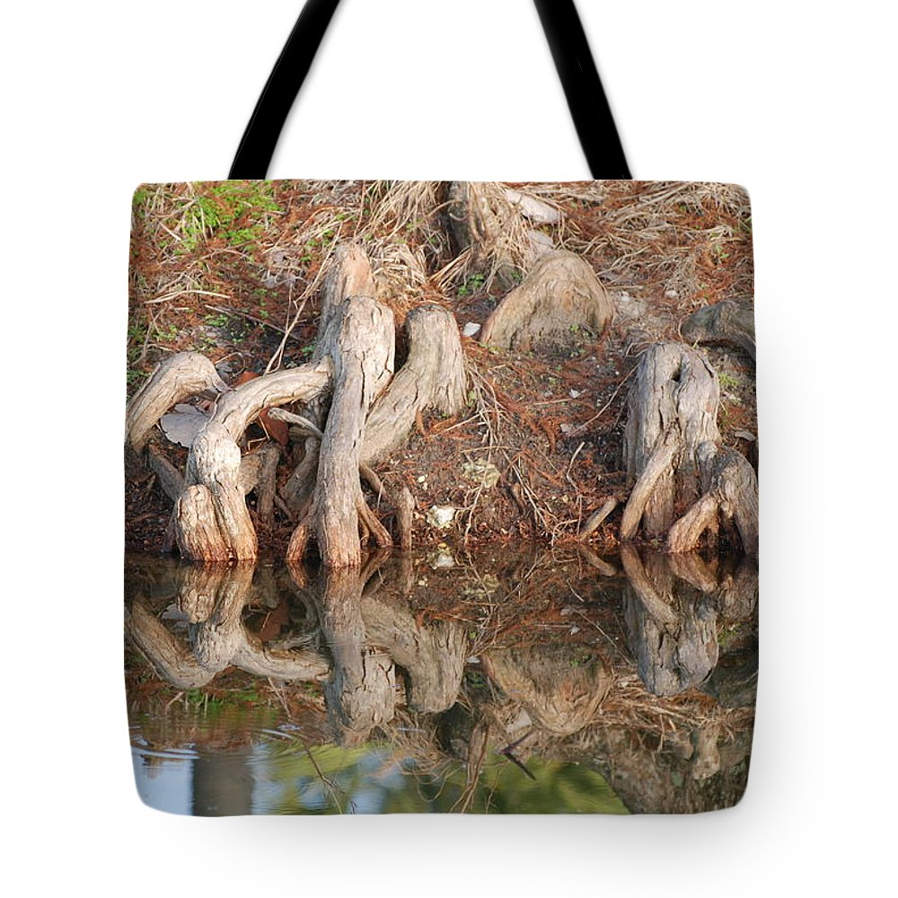 Roots Tote Bag featuring the photograph Rooted Reflections by Rob Hans