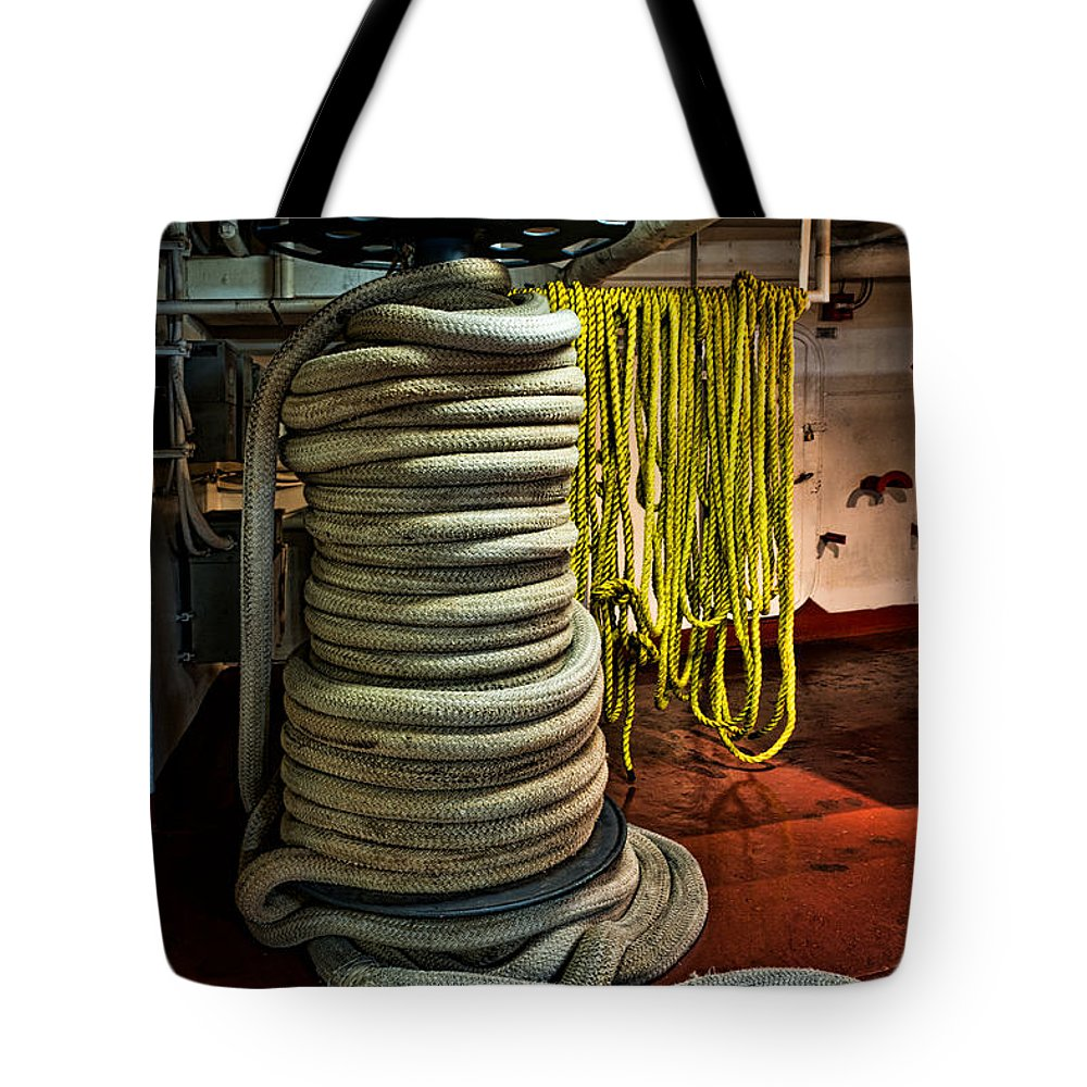 Ropes Tote Bag featuring the photograph Ropes by Christopher Holmes