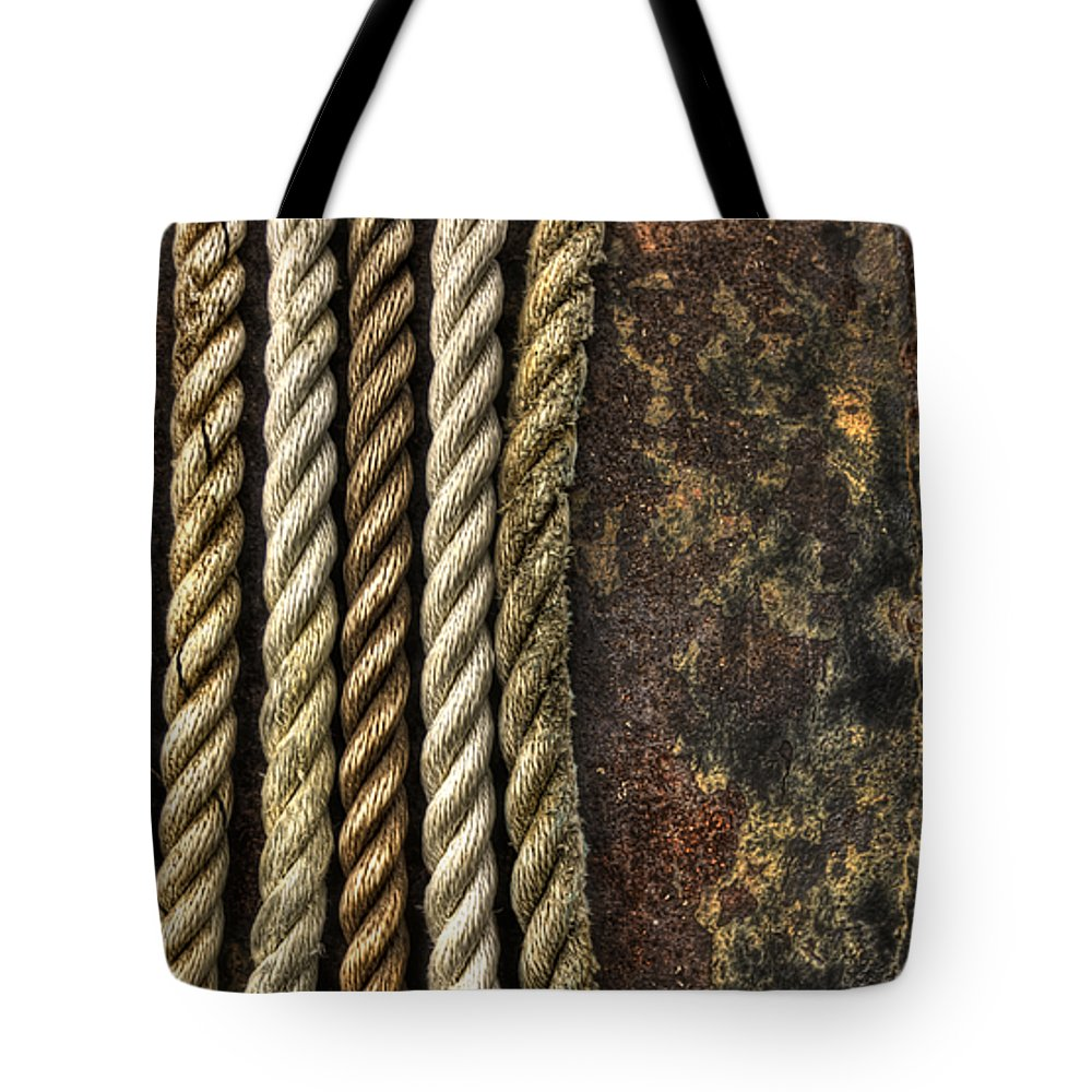 Rope Tote Bag featuring the photograph Ropes by Evelina Kremsdorf