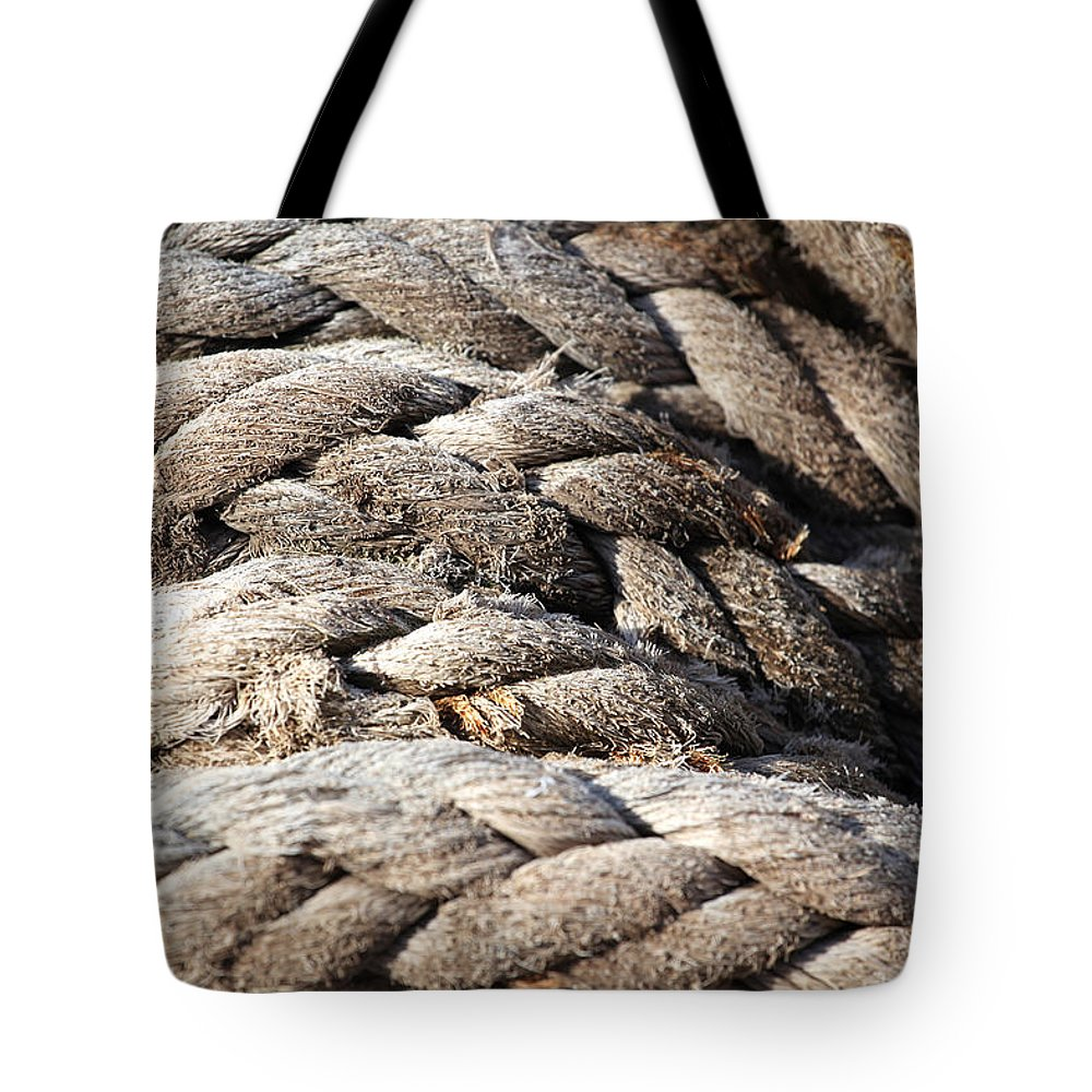 Ropes Tote Bag featuring the photograph Ropes. by Oscar Williams