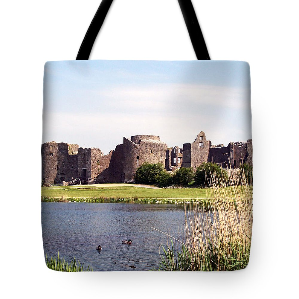Roscommon Tote Bag featuring the photograph Roscommon Castle Ireland by Teresa Mucha