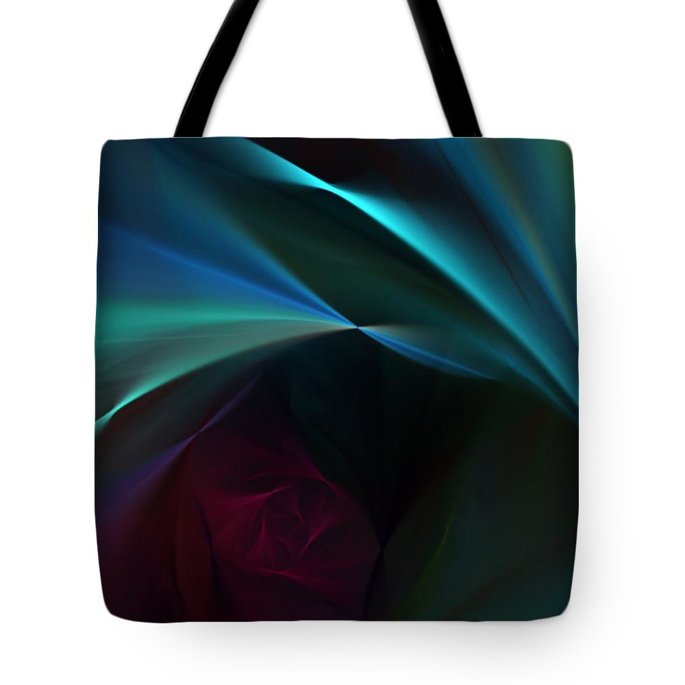 Digital Painting Tote Bag featuring the digital art Rose And Satin by David Lane