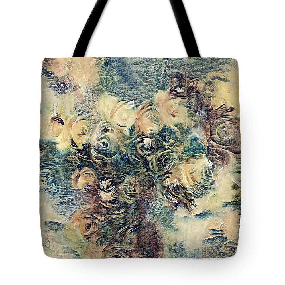 Tote Bag featuring the digital art Rose by Blu Raven