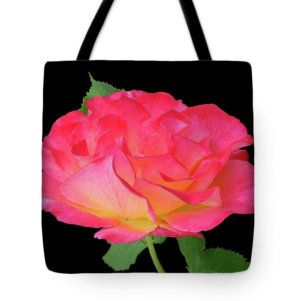 Cutout Tote Bag featuring the photograph Rose Blushing Cutout by Shirley Heyn