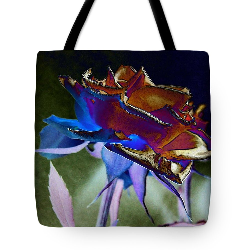 Rose Tote Bag featuring the digital art Rose By Design by Kae Cheatham