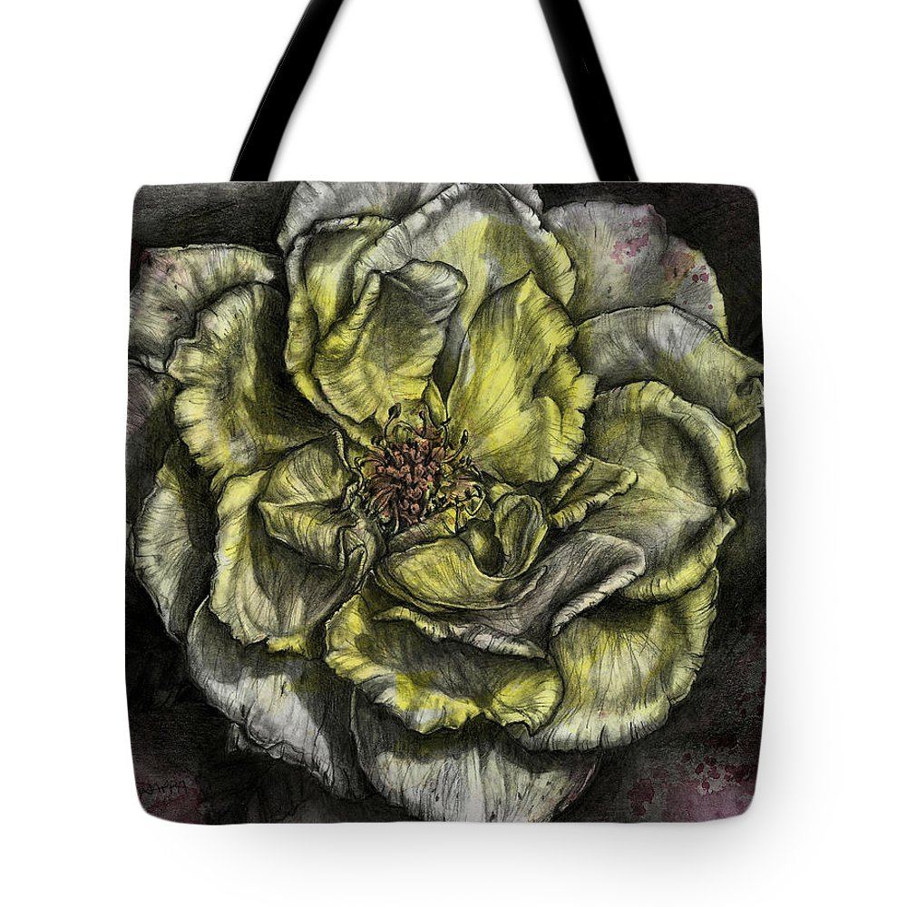 Floral Tote Bag featuring the painting Rose Cream by Trish Taylor Ponappa