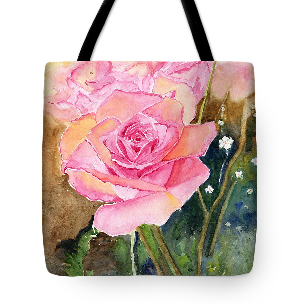 Rose Tote Bag featuring the painting Rose Garden by Melly Terpening