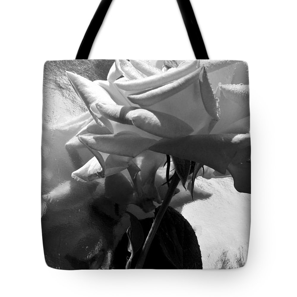 Rose Tote Bag featuring the photograph Rose Gray Tones by Damijana Cermelj
