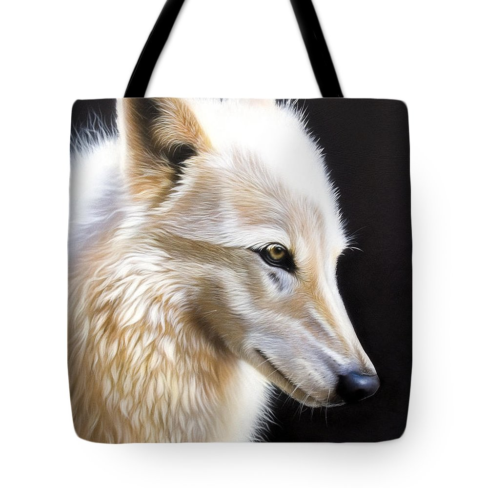 Acrylic Tote Bag featuring the painting Rose 3 by Sandi Baker
