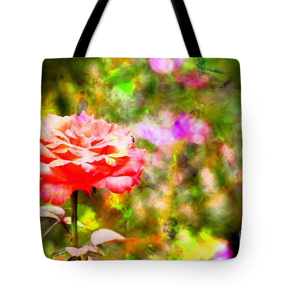 Rose Tote Bag featuring the photograph Rose Impression by Clare Bevan