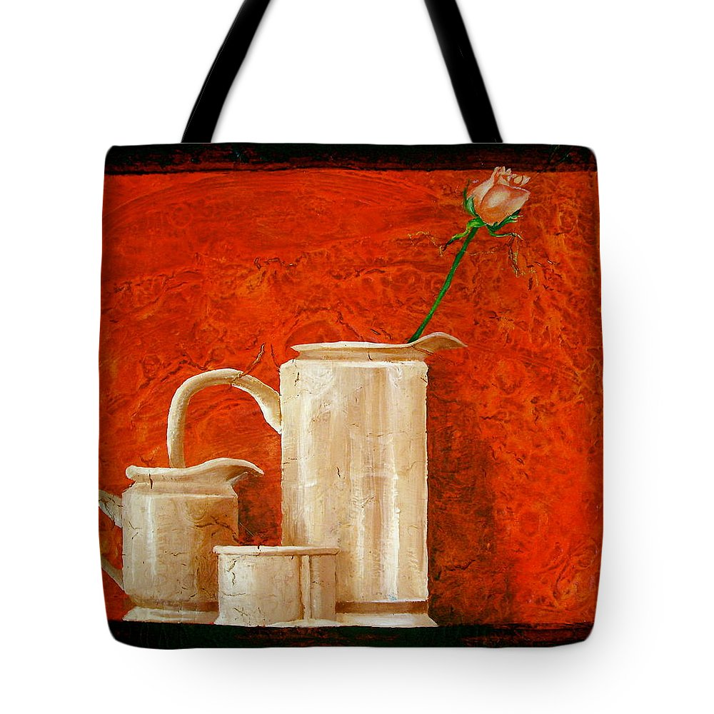 Beautiful Art Tote Bag featuring the painting Rose by Laura Pierre-Louis