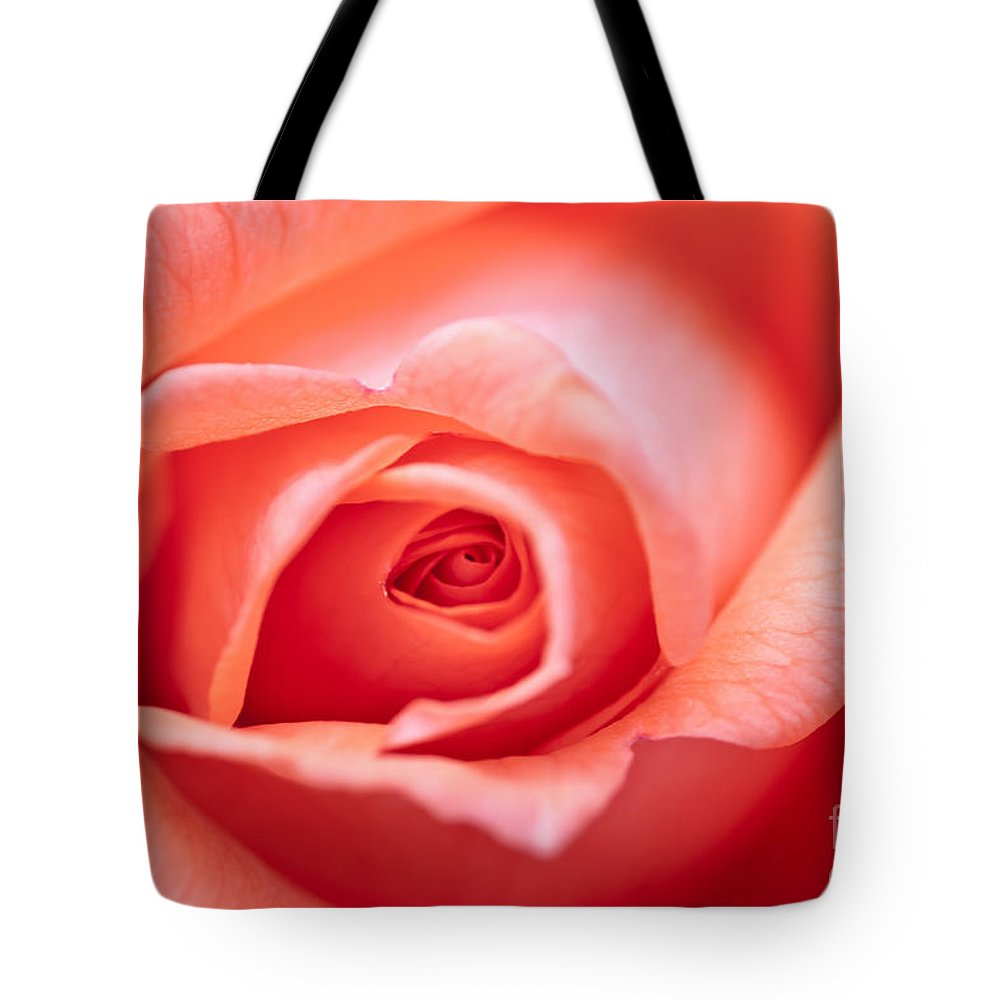 Abstract Tote Bag featuring the photograph Rose Petals by Michal Boubin