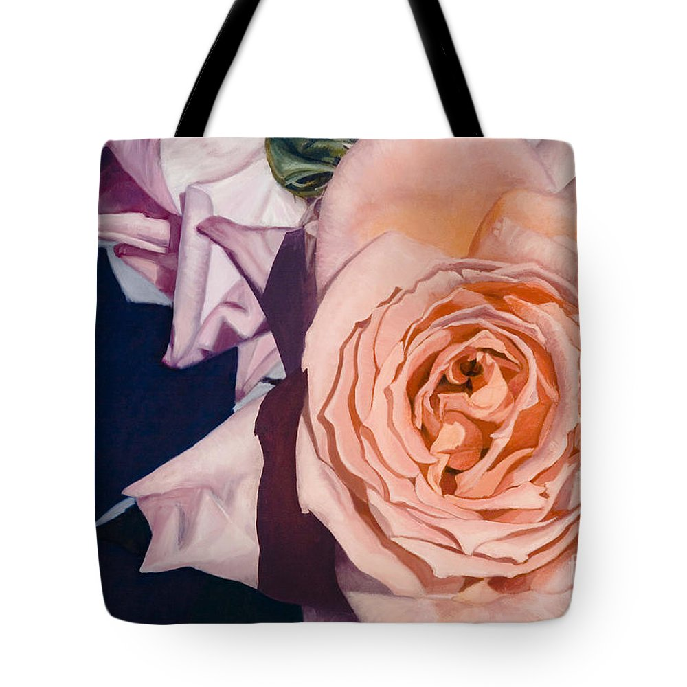 Roses Tote Bag featuring the painting Rose Splendour by Kerryn Madsen-Pietsch