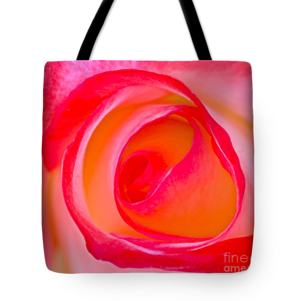 Rose Whorls Tote Bag featuring the photograph Rose Whorls by Edita De Lima